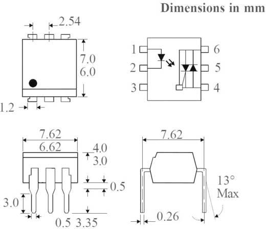 Optocsatoló Zero Crossing triakkal, DIL 6 SMD, Isocom Components MOC3063XSMT/R