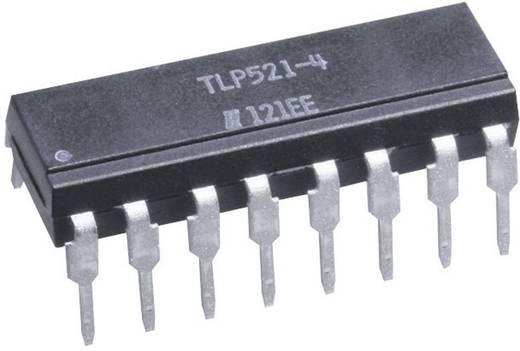 Optocsatoló 4 db fototranzisztorral, DIL 16, Isocom Components TLP521-4