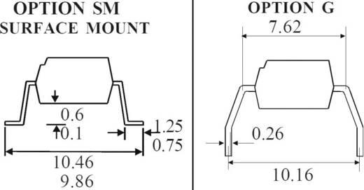 Optocsatoló 4 db fototranzisztorral, DIL 16, Isocom Components TLP521-4GB
