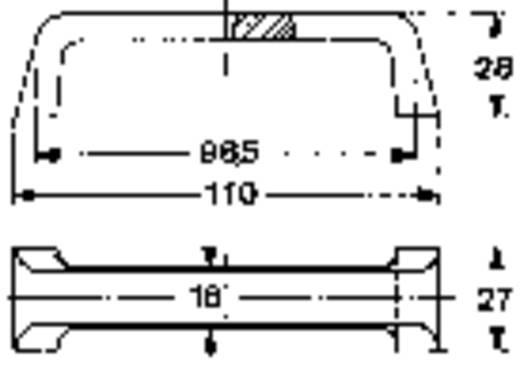 Mentor ABS hordozó fogantyú TRAGEGRIFF SCHWARZ (H x Sz x Ma) 110 x 27 x 28 mm Fröccsöntött műanyag Fekete