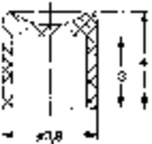 Nyomókapcsoló 1 x be/(be), 60 V/0,5 A, piros, Mentor 1846.6031