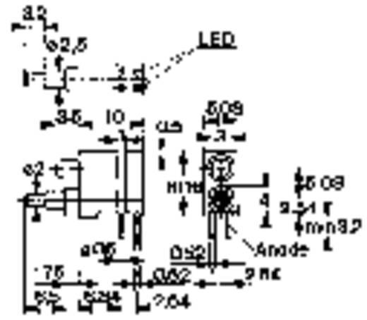 Nyomókapcsoló 1 x be/(be), 60 V/0,5 A, piros, Mentor 1845.6032