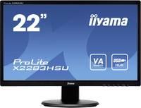 Iiyama ProLite X2283HSU-B1DP LED monitor (felújított) 55.9 cm (22 coll) 1920 x 1080 pixel Full HD 18 ms Kijelző csatlak Iiyama