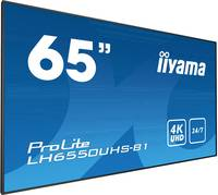 Iiyama ProLite LH6550UHS Digital Signage kijelző EEK: C (A+++ - D) 164 cm 65 coll 3840 x 2160 pixel 24/7 Iiyama