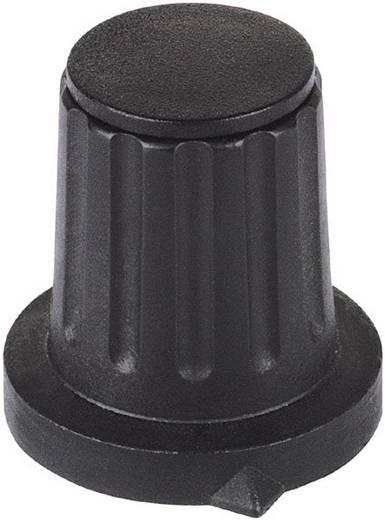 Mentor műanyag forgatógomb, Ø6 mm, fekete, 4310.6131