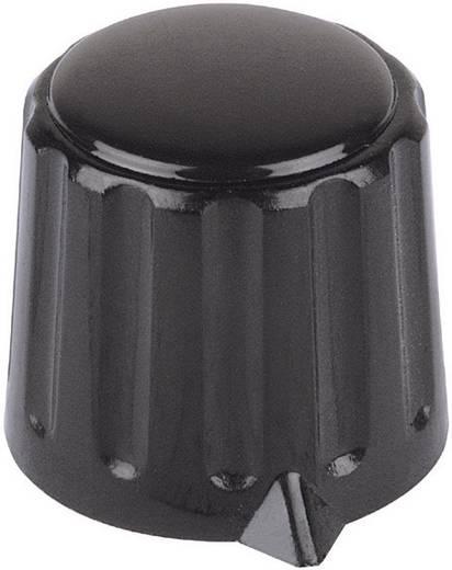Mentor műanyag forgatógomb, Ø6 mm, fekete, 4311.6131