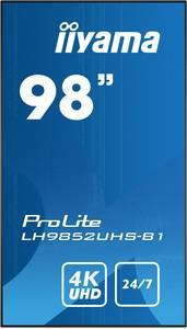 Iiyama ProLite LH9852UHS Digital Signage kijelző EEK: A (A+++ - D) 247.7 cm 98 coll 3840 x 2160 pixel 24/7 Iiyama