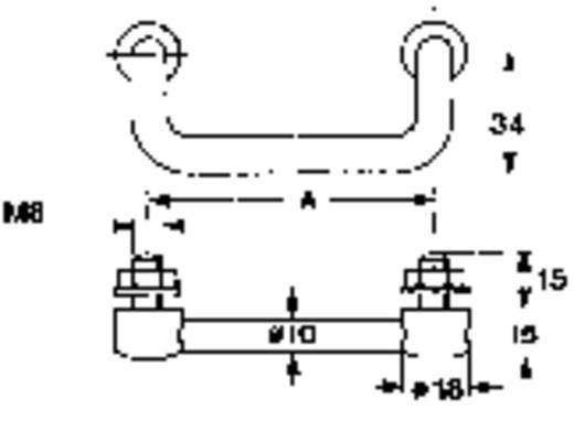 Krómozott mérőműszer fogantyú 100 mm