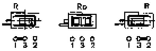Mentor FEL billenőkapcsoló THT 1850.3031 1 x be/ki/be bennmaradó/0/bennmaradó 60 V/AC/DC 0,5 A