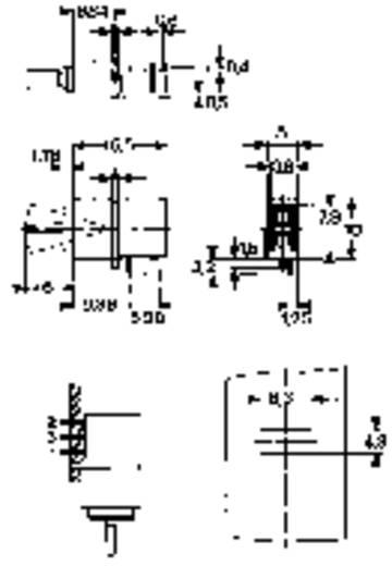Mentor FEL billenőkapcsoló THT 1850.1031 1 x be/be bennmaradó/bennmaradó 60 V/AC/DC 0,5 A