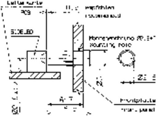 Fényvezető előlapi szereléshez, Mentor 1282.2000