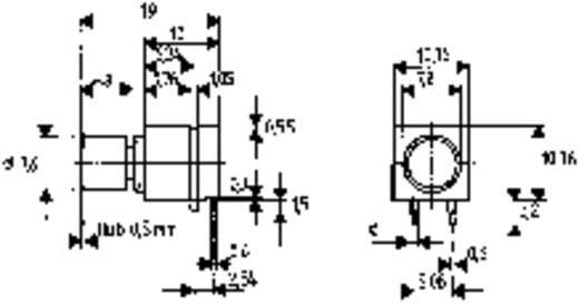 Nyomókapcsoló 1 x ki/(be), 60 V/0,5 A, fekvő, Mentor 1852.6232