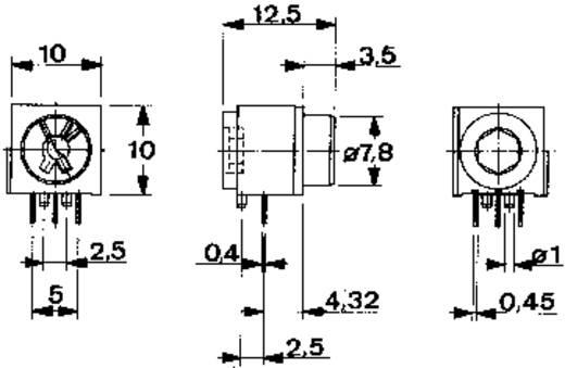 Mentor Miniatűr kulcsos kapcsoló, THT KULCSOS KAPCSOLÓ 1X VÁLTÓ R-R THT Beépítési Ø 7,8 mm