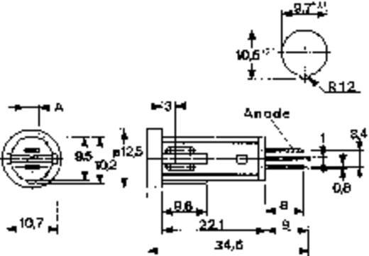 Mentor jelzőfény, 12V/DC, piros 2684.9008