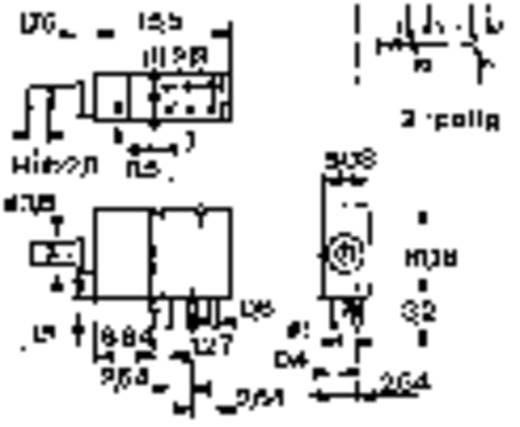 FEL nyomógomb THT 60 V/AC/DC 0,5 A, 1 x be/(be), Mentor 1840.6131