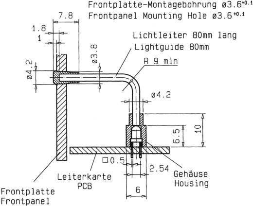 Flexibilis fényvezető THT LED-ekkel, Mentor 1316.2001