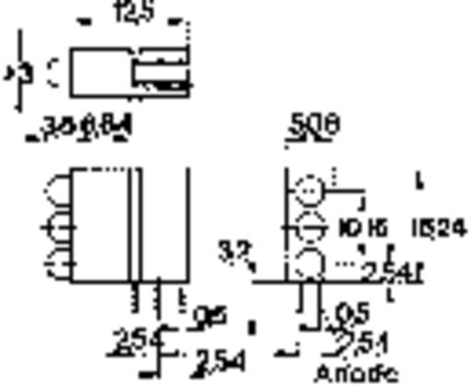 3 részes LED építőelem, 3 mm piros/sárga/zöld, THT, Mentor 1881.8720