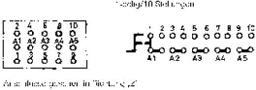 Forgókapcsoló 1 pólus/10 állás, 60 V/0,5 A, Mentor 1843.9031