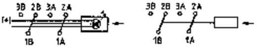 Nyomókapcsoló 2 x be/(be), 60 V/0,5 A, jelző LED-del, sárga, Mentor 1844.6735