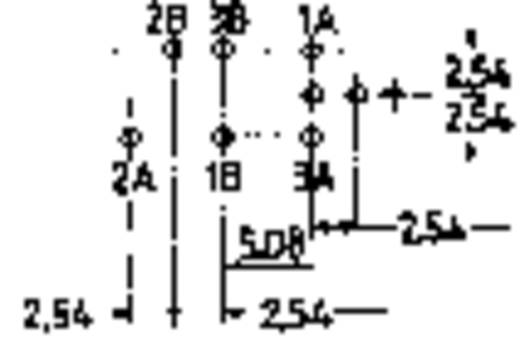 Nyomókapcsoló 2 x be/be, 60 V/0,5 A, jelző LED-del, piros, Mentor 1844.2332