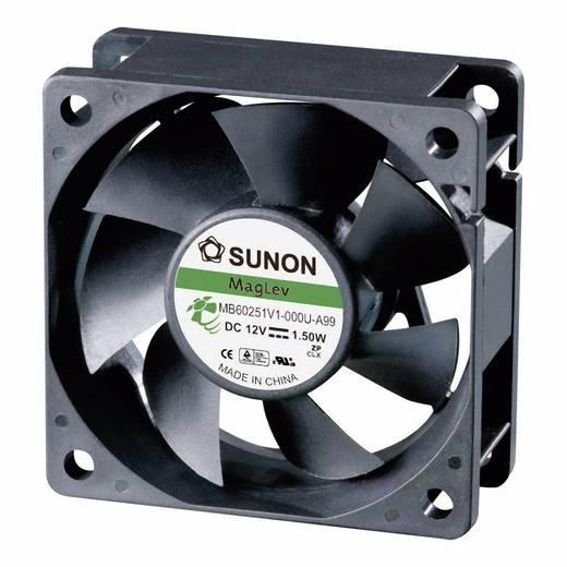 Axiális ventilátor (ipari), 12 V/DC 39.92 m³/h (Sz x Ma x Mé) 60 x 60 x 25 mm Sunon MB60251V1-0000-A99