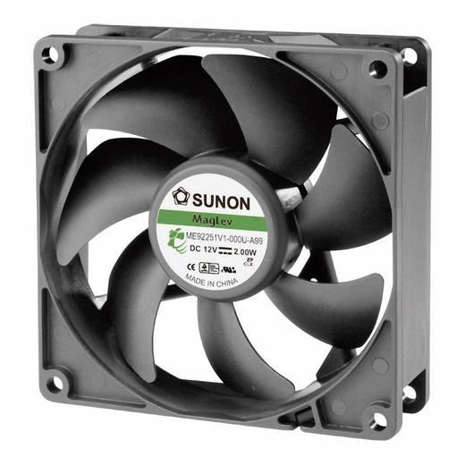 Axiális ventilátor (ipari), 12 V/DC 87.49 m³/h (Sz x Ma x Mé) 92 x 92 x 25 mm Sunon ME92251V1-000U-A99
