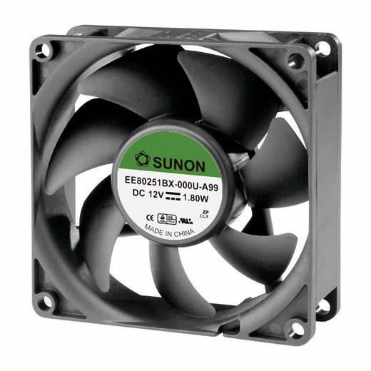 Axiális ventilátor (ipari), 12 V/DC 76.45 m³/h (Sz x Ma x Mé) 80 x 80 x 25 mm Sunon