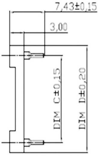 IC foglalat, 7.62 mm pólusszám: 28 ASSMANN WSW AR 28-HZL/7-TT 1 db