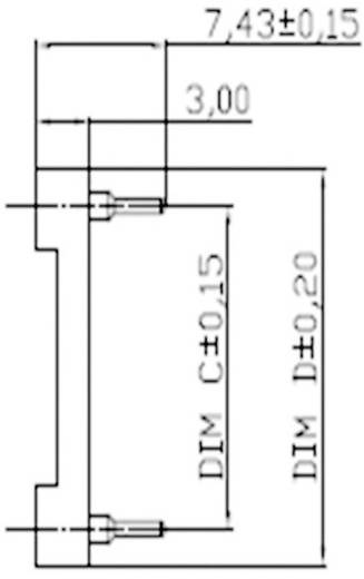 Precíziós IC foglalat csavart érintkezőkkel ASSMANN WSW AR 10-HZL-TT Pólusszám 10 Anyag PBT