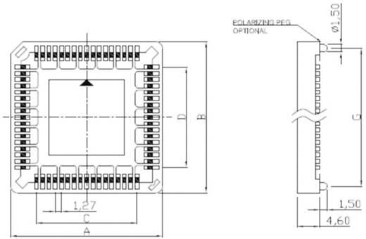 PLCC foglalat, 12.7 mm pólusszám: 44 ASSMANN WSW A-CCS 044-Z-SM 1 db