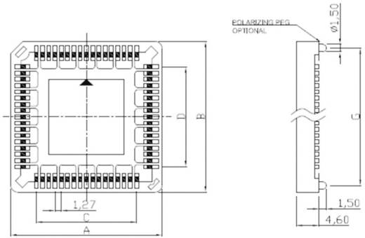 PLCC foglalat, SMT ASSMANN WSW A-CCS 032-Z-SM Pólusszám 32 Anyag Poliamid 9T, foszforbronz/ónozott