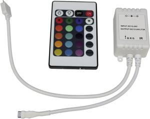 RGB színvezérlő készülék infravörös távirányítással, Basic 12/24 V/DC Barthelme