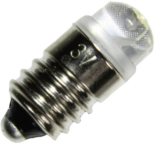 LED-es zseblámpaégő E10 foglalattal, 4,5 V/DC, fehér
