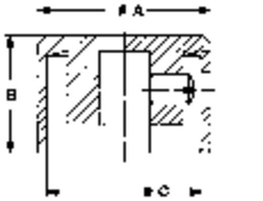 Mentor fényes alu forgatógomb, Ø6 mm, 5555.6612