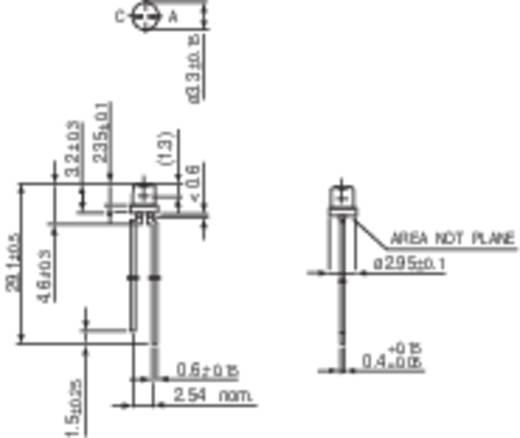 LED kivezetéssel Sárga Hengeres 3 mm