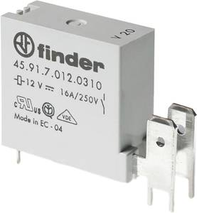 Finder 45.91.7.012.0311 Nyák relé 12 V/DC 16 A 1 záró 1 db Finder