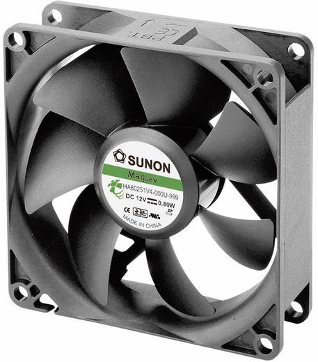 Axiális ventilátor (ipari), 12 V/DC 40.26 m³/h (Sz x Ma x Mé) 80 x 80 x 25 mm Sunon HA80251V4-0000-999