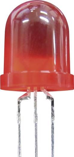 LED kivezetéssel Piros Kerek 10 mm 80 mcd<br