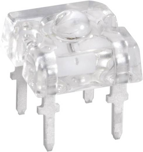LED kivezetéssel Sárga Derékszögű 7.6 x 7.6 mm 30 ° 70 mA 2.1 V Vishay TLWY 7600