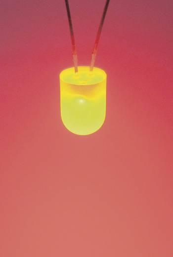 LED kivezetéssel Sárga/narancssárga Kerek 8 mm