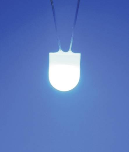 LED kivezetéssel Fehér Kerek 8 mm 360 ° 80 mA 3.4 V