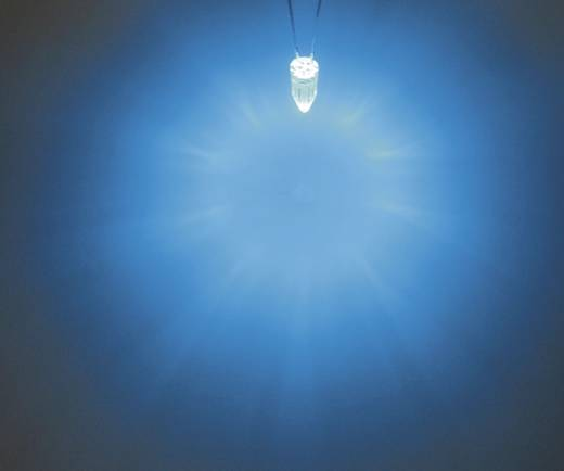 LED kivezetéssel Kék Kerek 5 mm 1560 mcd