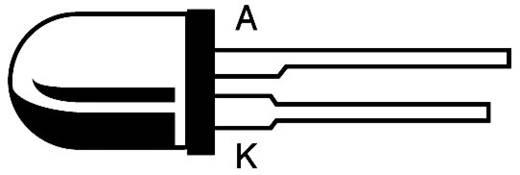 LED huzal kivezetéssel, zöld, kerek, 5 mm 40 mcd 60 ° 20 mA 2.2 V L 53 GD