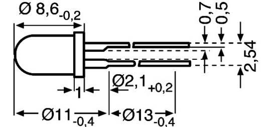 LED kivezetéssel Zöld Kerek 5 mm 10 mcd 60 ° 30 mA 2.4 V Vishay TLHG5400