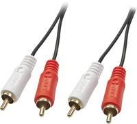 LINDY RCA Audio Csatlakozókábel [2x RCA dugó - 2x RCA dugó] 2 m Fekete (35661) LINDY
