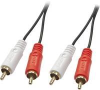LINDY RCA Audio Csatlakozókábel [2x RCA dugó - 2x RCA dugó] 5 m Fekete (35663) LINDY
