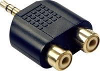 LINDY LINDY Audio-Adapter 2xRCA f. an 3,5mm m. Audio Átalakító Fekete (35624) LINDY