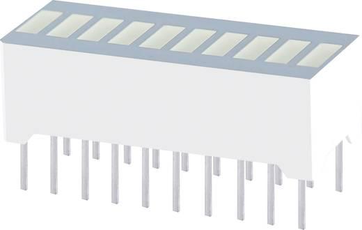 LED oszlopdiagram 10 részes Piros (H x Sz x Ma) 25.4 x 10.1
