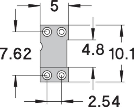 IC foglalat, precíziós, 0,75µM arany bevonattal, 4 pólusú.