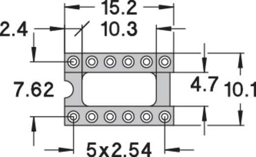 IC foglalat, precíziós, 0,75µM arany bevonattal, 12 pólusú